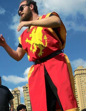 Cavaleiro Russo no 5° Encontro Paulista de Swordplay.