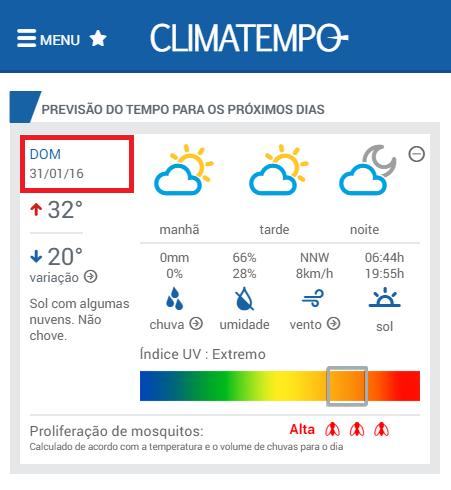 clima tempo